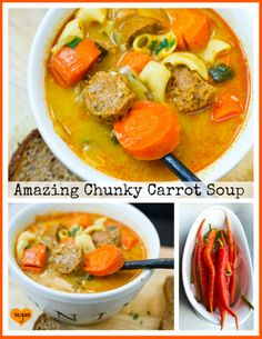 Amazing Chunky Carrot Soup.