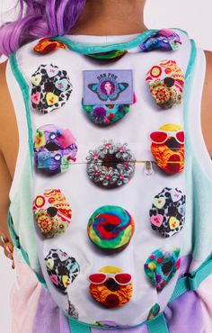 Rave hydration backpack! Enhance your rave outfit with this donut print!