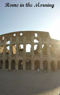 The Colosseum with the sun rising.
