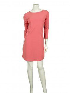 Damen Jersey Tunika Kleid, koralle