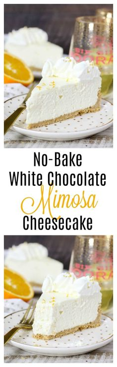 This No-Bake White Chocolate Mimosa Cheesecake is a light and fluffy no-bake cheesecake with hints of orange zest and champagne. Whatever the reason it, celebrate with this champagne cheesecake!