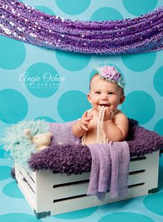 Captivating and absolutely adorable, this photo by Angie Ochoa shows beautiful color coordination with our Seafoam Polka Dot Printed Backdrop! Photography Backdrops, Girl Photography, Polka Dot Print, Polka Dots, Studio Backdrops, Photographing Kids, Coordinating Colors, Sea Foam, Baby Photos