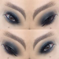 Smokey grey eyes
