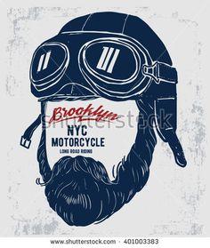 Motorcycle rider with retro racer helmet. T-shirt graphics. Motorcycle Decals, Motorcycle Posters, Retro Motorcycle, Motorcycle Helmets, Motorcycle Gifts, Vintage Posters, Vintage Art, Vintage Style, Logo Vintage