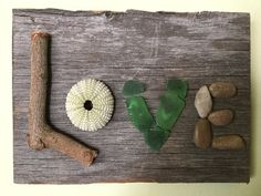 Handmade Organic LOVE Sign on old Barn Wood / Wall by TillyFritz