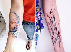 Modern Art Tattoos by Amanda Wachob in style fashion art  Category