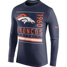 Denver Broncos Nike Ticket Long Sleeve T-Shirt - Navy Blue. Nfl Denver  BroncosBroncos FansNfl SeattleSeattle SeahawksSeahawks ... 7aa118a5b