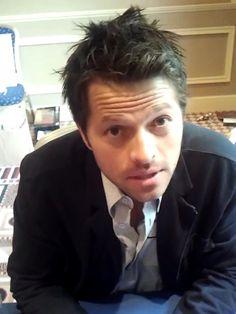 Misha and sexy hair.