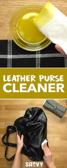 This easy DIY project can help transform your leather good back to their old glory, or keep your new leather accessories in top shape! accessories diy Keep Your Purses Looking Just as Great as They Did from Day One! Diy Leather Bag Cleaner, Clean Leather Purse, Leather Purses, Leather Handbags, Leather Wallet, Diy Purse Cleaner, Leather Crossbody, Crossbody Bag, Leather Totes