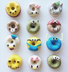 Cartoon donut designs. Adorable Donut Designs from Erina. Cute donut design. 甜甜圈http://tummyfriend.com/cartoon-design-donuts/