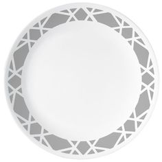 Our lively geometric-pattern dinnerware set brings style to your table, any way you serve it. Appetizer Plates, Dinner Plates, Appetizers, Corelle Plates, Corelle Sets, Clean Plates, Plates And Bowls, Side Plates, Porcelain Mugs