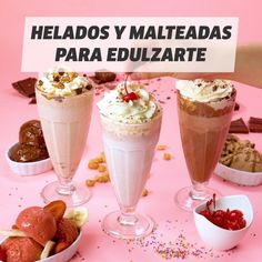 Aprende a hacer las más ricas malteadas y helados frutales Oreo Milkshake, Chocolate Milkshake, Milkshake Recipes, Smoothie Recipes, Milkshake Recipe Without Ice Cream, How To Make Milkshake, Making Milkshakes, Food Porn, Starbucks Recipes