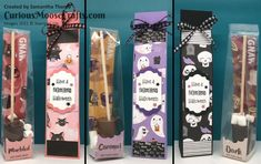 Choc Shot, Moose Crafts, Treat Holder, Custom Packaging, Cute Halloween, Christmas Sale, Color Patterns, Party Favors, Stampin Up