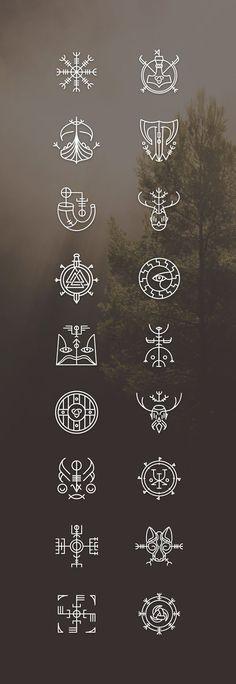 Vikons: the Striking Viking icon set by blanaroo o. - Vikons: the Striking Viking icon set by blanaroo o. Simbolos Tattoo, Norse Tattoo, Body Art Tattoos, Sleeve Tattoos, Cool Tattoos, Viking Rune Tattoo, Ancient Tattoo, Icon Tattoo, Viking Tattoo Design
