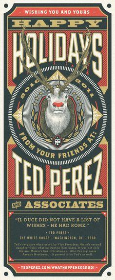 Happy Holidays Te Perez & Associates.  Nice typeface design.
