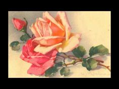 (2) CATHARINA KLEIN -Artiste Peintre-Cartes Postales Anciennes-Les Roses- Fleurs-Flowers-Old Postcards - YouTube