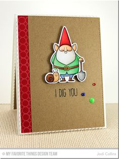 You Gnome Me, You Gnome Me Die-namics - Jodi Collins  #mftstamps