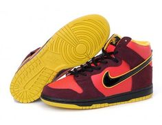 Nike Store. Nike SB Dunk High Iron Mens Shoes - Red/Brown/Black