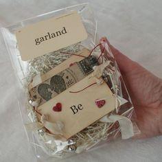 ❥ Be My Valentine~ a lovely flashcard garland by Cari Kraft.