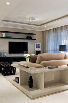 Sala de estar com sanca aberta