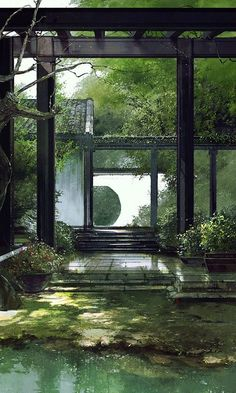 The Effective Pictures We Offer You About Architecture background laptop A quality picture can tell. Fantasy Landscape, Landscape Architecture, Architecture Background, Magic Places, Japan Garden, Japon Illustration, Diy Garden, Garden Types, Garden Shade