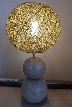 John Lewis Ferris Two Ball Sand Wash Wood Table Lamp,Grey