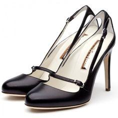 Rupert Sanderson Black Leather High Heel Mary Jane, found on polyvore.com