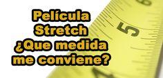 Medidas de Película Stretch: ¿Cuál me Conviene?    Existen muchas medidas de película stretch. Algunas son muy lógicas y otras no tanto como veremos a continuación.       Antes que nada tenemos que entender que la película tiene 3 medidas básicas: Ancho, Largo y Calibre.