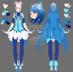 Cure Aqua - Grown-up Design by rika-dono.deviantart.com on @DeviantArt