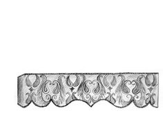 Francine Cornice-Provides a curvacious line that comes to a center point to add visual interest to your windows. Suitable fabrics: Medium to heavyweight fabrics.