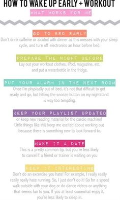 Morning workout tips - Click image to find more health & fitness Pinterest pins