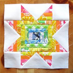 """Exploding Star"" tutorial by Sheila of Thought & Found. This one is so fun and easy!"