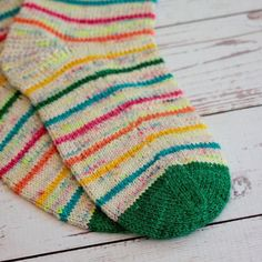 Rainbow Mini Skein Pack - make a cheerful pair of rainbow socks. Knitting Socks, Knitting Stitches, Knitting Patterns, Knit Socks, Rainbow Socks, Socks And Heels, Yarn Projects, Knitting Accessories, Hand Dyed Yarn