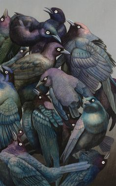 Surreal wildlife paintings by Tiffany Bozic.