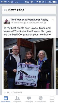 Happy HUD Home buyers!
