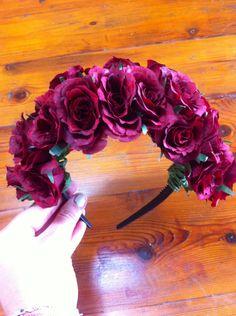 I will wear a flower headband when I get married-Happy Wedding-Party Wedding-Fashion-Very Nice-Bride 2014 Diy Headband, Floral Headbands, Floral Crowns, Diy Flowers, Fabric Flowers, Hallowen Ideas, How To Make Headbands, Thinking Day, Diy Hair Accessories