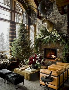 Most of us in the quest of contemporary Christmas decorations end up with hefty bills and lots of chaos in the home. Contemporary Christmas decorations never mean that you have to stuff your home with each and every decorative item… Continue Reading → Farmhouse Christmas Decor, Country Christmas, Christmas Home, Cabin Christmas Decor, Xmas, Modern Christmas Decor, Christmas Design, Christmas Trees, Christmas Holidays