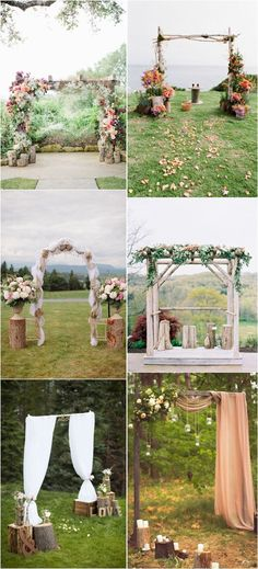 rustic tree stump wedding decor ideas / http://www.deerpearlflowers.com/rustic-woodsy-wedding-trend-tree-stump/ #rustic #rusticwedding #countrywedding #weddingideas #weddingdecoration