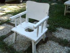 Shabby Chic vintage child seat