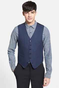 Star USA By John Varvatos - Blue Plaid Vest at Nordstrom Rack. Free Shipping on orders over $100.