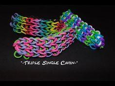 "Wonder Loom tutorial ""Triple Single"" bracelet"