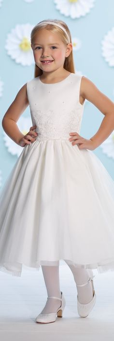 Joan Calabrese for Mon Cheri - Style No. 116395 #flowergirldresses