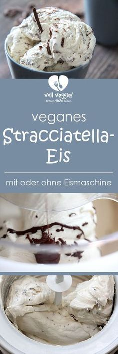 Veganes Stracciatella-Eis Veganes Stracciatella-Eis Annelina Waller annelinawaller Vegan Dessert und S es Stracciatella-Eis geht immer und ist neben Vanille- Erdbeer- und Schokoladeneis wohl nbsp hellip Thermomix Desserts, Healthy Desserts, Easy Desserts, Dessert Recipes, Yummy Snacks, Dessert Simple, Ice Cream Desserts, Chocolate Desserts, Vegan Recetas