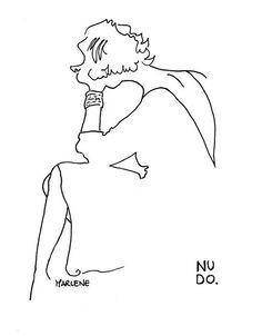 Marlene Dietricht. NUDO.