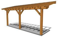 Wooden Swing Set Plans, Wooden Swings, Porch Roof, Shed Roof, Front Porch, Halle, Screened In Patio, Backyard Patio, Lean To Shed