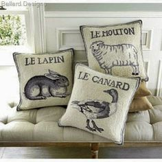 Chantilly Charm: Ballard Designs French Bunny Pillow DIY
