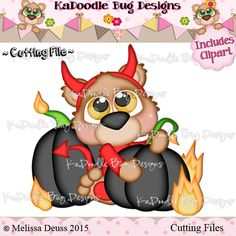 Cutie KaToodles - Devil Pumpkin Bear