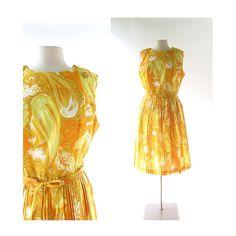 Vintage 1960s Dress / Der Goldene Wind / by SmallEarthVintage