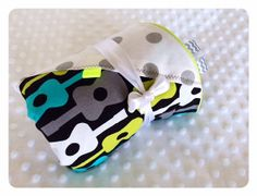 Starts out as a stroller blanket, becomes a little boy's favorite! Blanket by GiveALovey on Etsy