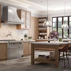 L'Atelier has designed the world's finest custom French ranges & kitchens for over a century. Contact our design team today to start building your dream kitchen. Custom Kitchens, Luxury Kitchens, Dream Kitchens, Professional Kitchen, Tasty Kitchen, Oak Cabinets, Bespoke Design, Solid Oak, My Dream Home